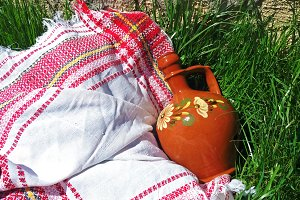 Bulgarian traditional clay jug