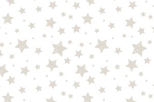 Embroidered silver stars pattern
