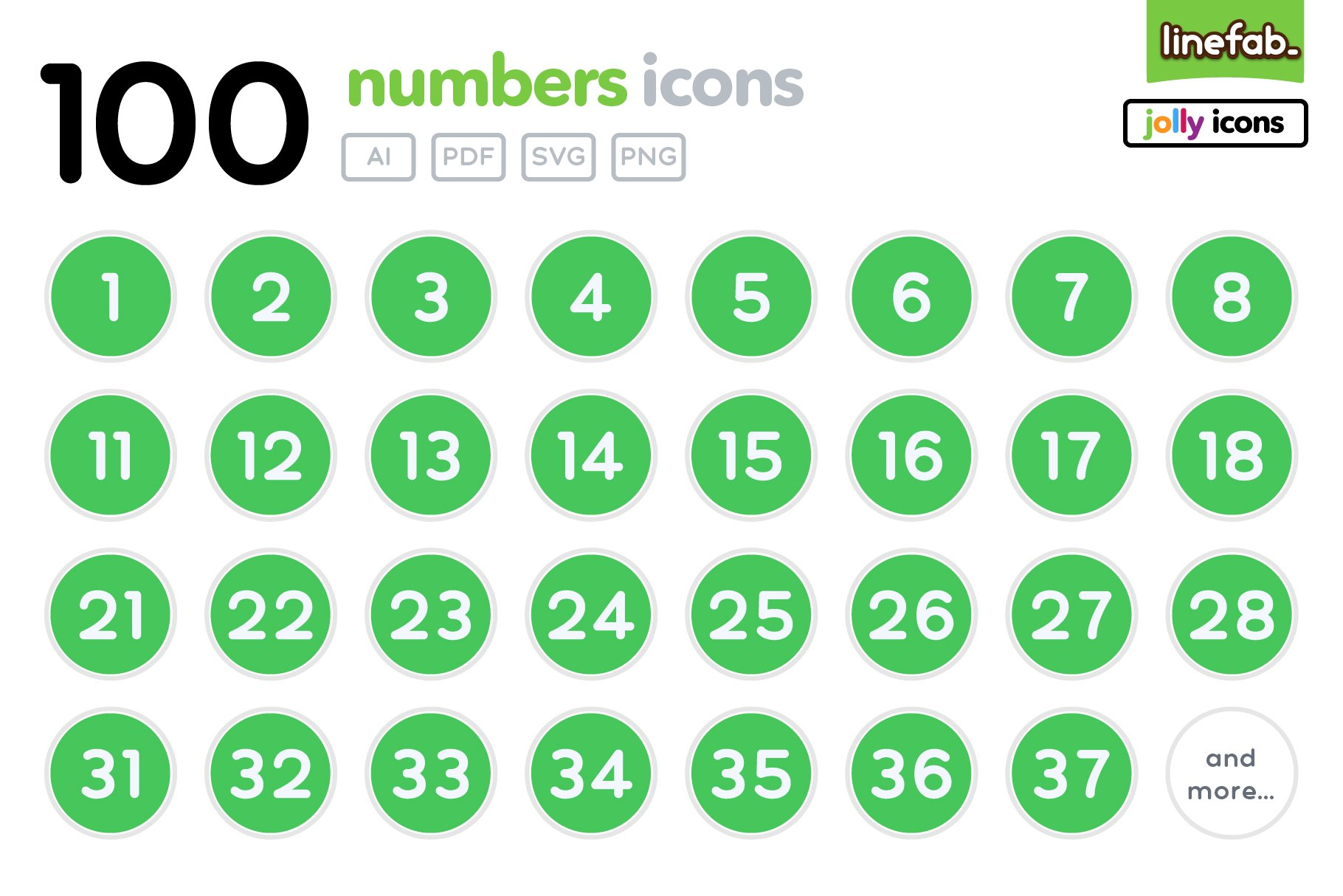 100 Numbers Icons