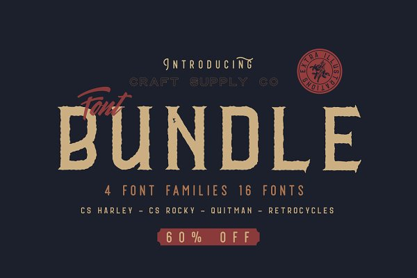 Display Fonts: Craft Supply Co. - Font Bundle - Craft Supply Co