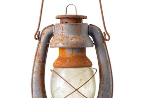 Old vintage fuel lamp.