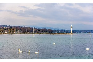 View of the Lighthouse in Geneva - Switzerland