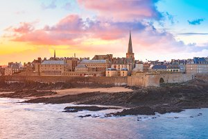 Medieval fortress Saint-Malo, Brittany, France