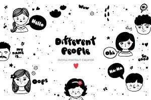 Different people portrait creator