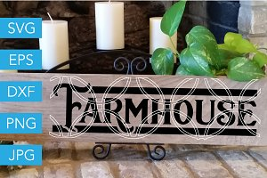 Farmhouse SVG Cutting File