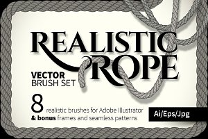 Realistic rope brushes #01