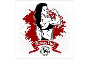 Sexy girl in sportswear. Fitness lifestyle. Vector illustration