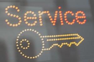Signboard of keys service