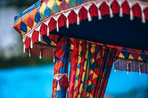Pretty Drapes on a Paddle Boat