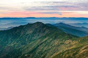 Panorama of mountain landscape