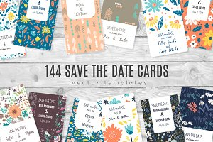 144 Save tha Date templates