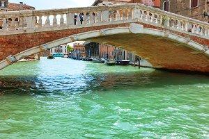 Rialto bridge on Grand Canal
