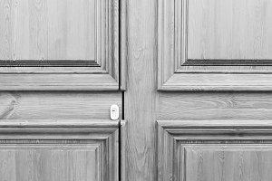Ancient Door Detail in Black White