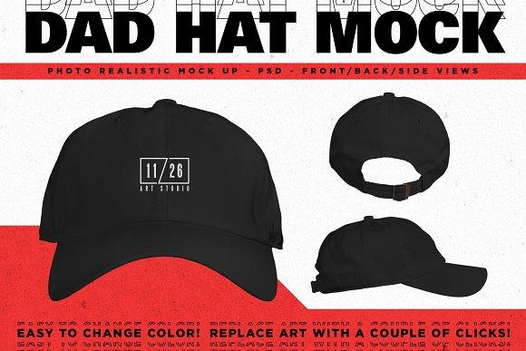 Free Dad Hat Mockup