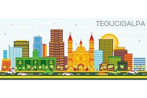 Tegucigalpa Honduras City Skyline