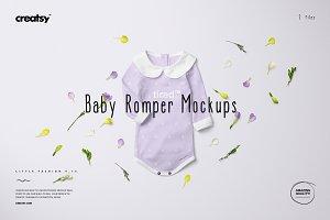 Baby Romper Mockup Set