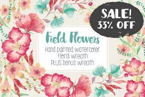 SALE - 33% off! Field flowers