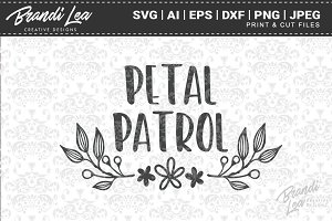 Petal Patrol Cut Files