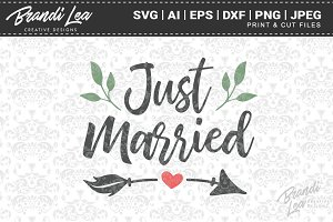 Just Married Cut Files