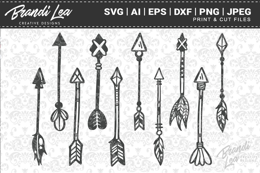 Hand Drawn Teepees Cut Files Pre Designed Photoshop Graphics Creative Market