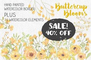 SALE - 40% off! Buttercup border
