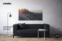 Leather Lounge Canvas Print Mockup