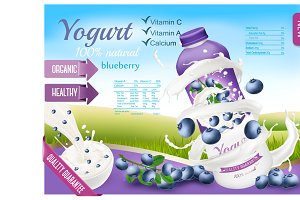 Fruit yogurt with berries
