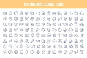 120 Universal Doodle Icons