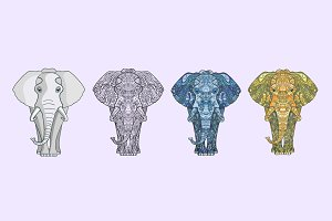 Four vector Elefants
