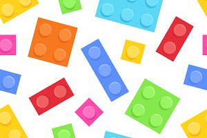 Plastic construction blocks pattern