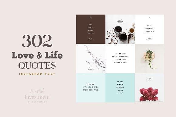 302 Love & Life Social Media Quotes