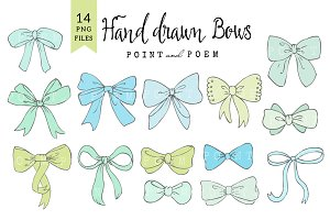 Bow Clip Arts Mint & Blue