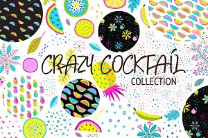 CRAZY COCKTAIL patterns, objects