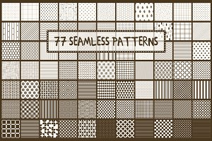 Simple seamless monochrome patterns