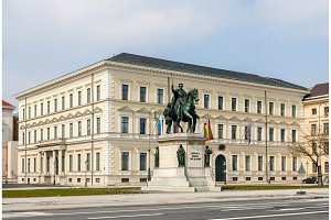 Statue of Ludwig I in front of Bavarian State Ministry of Financ