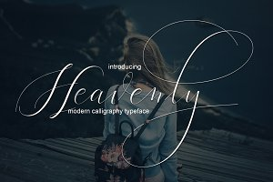Heavenly - fancy fonts