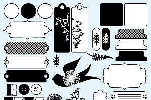 Scrapbooking Elements Vector/Clipart