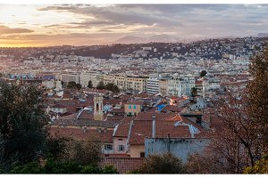 Sunset over Nice - French Riviera