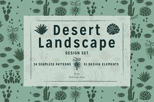 Desert Landscape Design Set