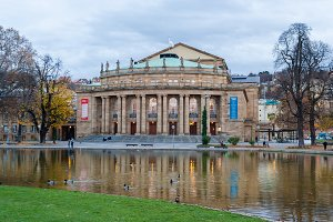 The Opera House of Stuttgart State Theatre. Germany