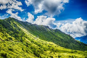 Alps montains in Bagolino, Italy