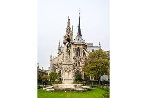 Notre Dame de Paris, view from the Square Jean-XXIII