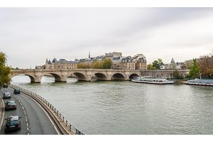 Bridge Pont Neuf across the Seine in Paris, France