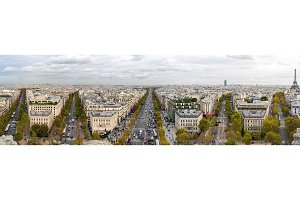 Paris as seen from the Arc de Triomphe