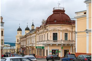 View of Chernivtsi city center, Ukraine