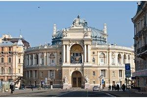 View of Odessa Opera and Ballet Theater. Ukraine