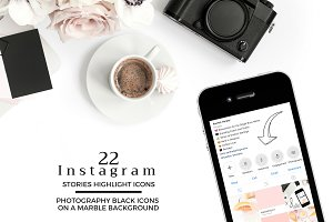 PHOTOGRAPHY Theme Instagram Icons