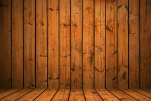 Wood studio room texture background for product presentation.