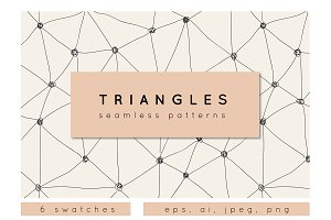 Triangles. Seamless Patterns. Set 1