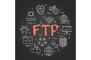 Chalk board concept - File Transfer Protocol